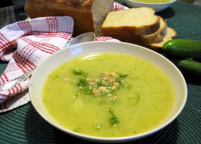 Летний суп-пюре огуречный